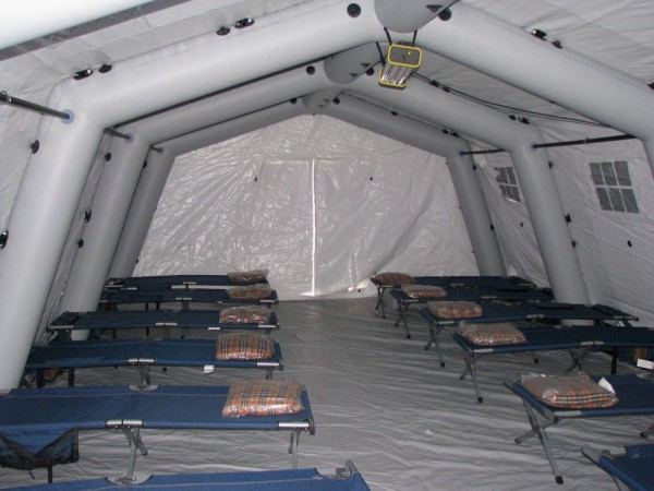 Leavitt & Parris emergency shelter inflatable structure