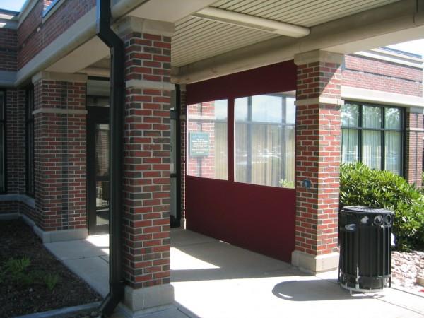 Leavitt & Parris curtain for building entryway