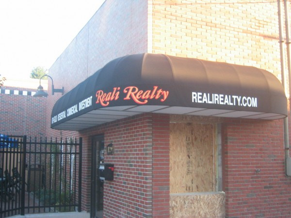 Reali Realty custom awning graphics