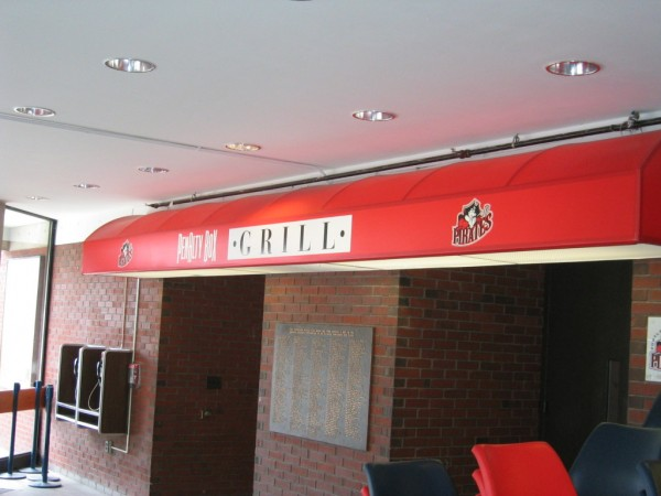Backlit awning by Leavitt and Parris, for Penalty Box Grill
