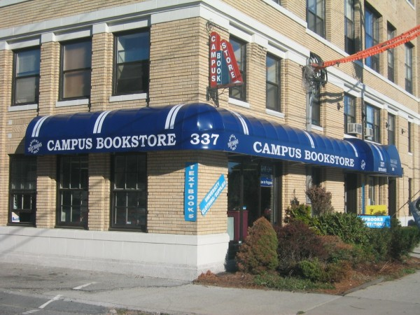 Backlit awning for Campus Bookstore, by Leavitt & Parris