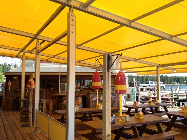 Custom seasonal awning from Leavitt & Parris