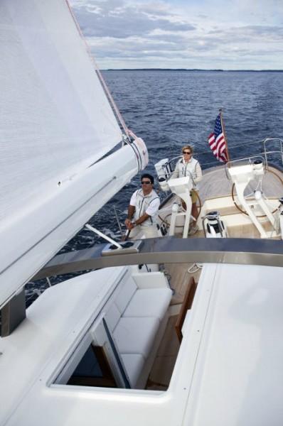 Sailboat with Leavitt & Parris custom marine cushions
