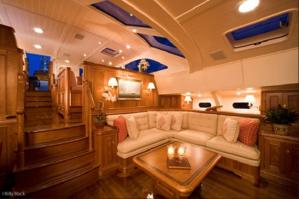 Custom marine cushions by Leavitt and Parris make a boat feel like a home
