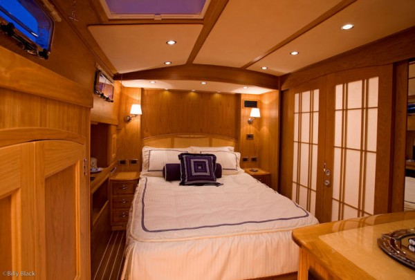 Boat interior with custom made marine products from Leavitt & Parris
