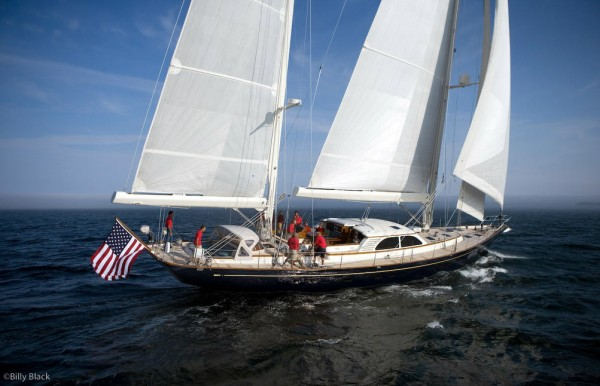Example of sailboat for Leavitt & Parris custom marine fabric products