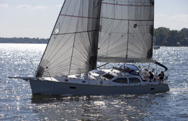 Sailboat showcasing Leavitt & Parris marine fabric products