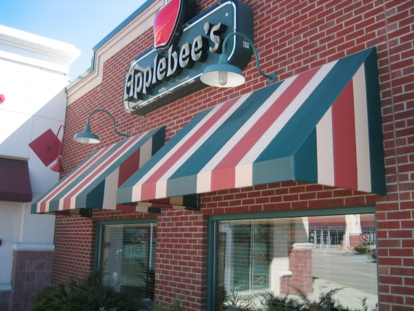 Applebee's stationary awning by Leavitt & Parris