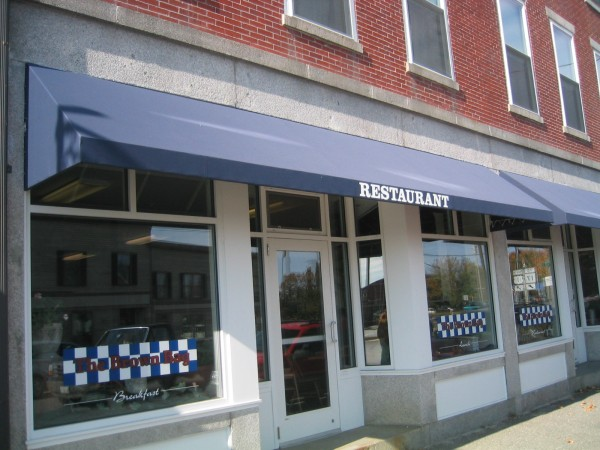 Restaurant stationary awning by Leavitt & Parris