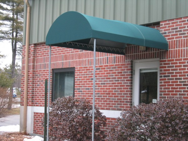 Example of Leavitt & Parris stationary awning for over doorway of business