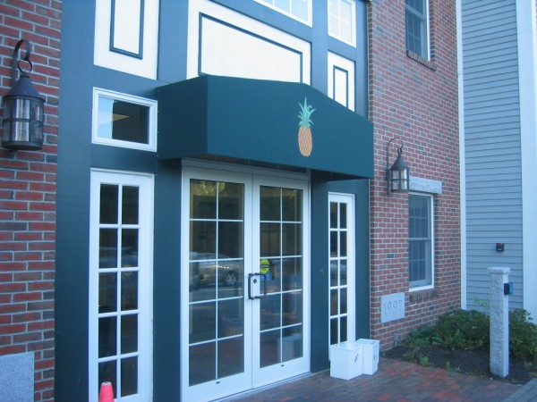 Custom stationary awning by Leavitt & Parris
