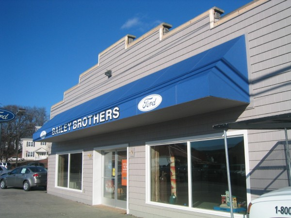 Leavitt & Parris stationary awning for Bailey Brothers