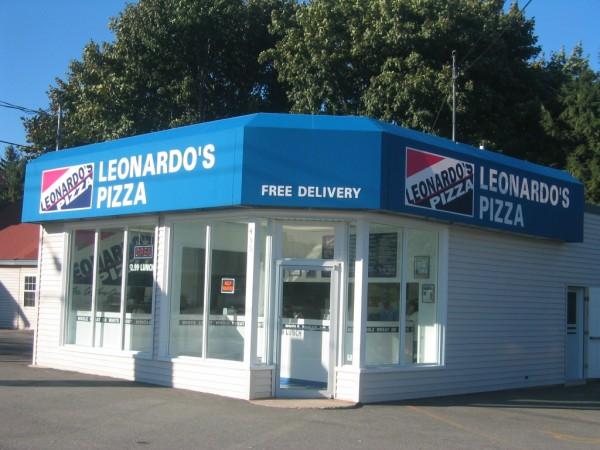 Leavitt & Parris stationary awning for Leonardo's Pizza