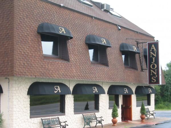 Stationary awnings by Leavitt & Parris for Anjon's