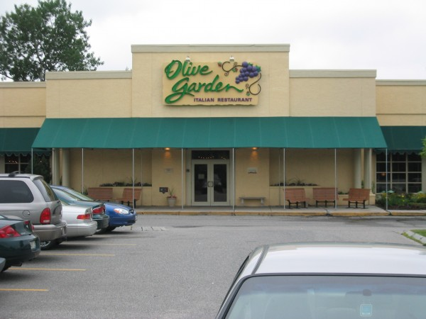Stationary awning for the Olive Garden Restaurant by Leavitt & Parris