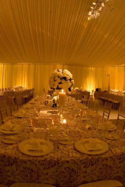 Elegant interior tent details by Leavitt & Parris