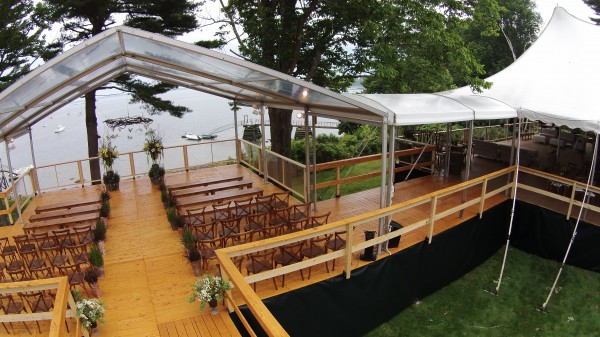 Connected event structures set up by Leavitt & Parris, for a Maine wedding