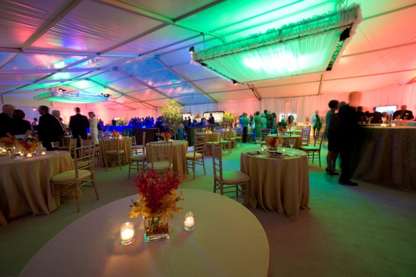 Mercy Hospital in Maine, grand opening event, tent, lighting and decor by Leavitt & Parris