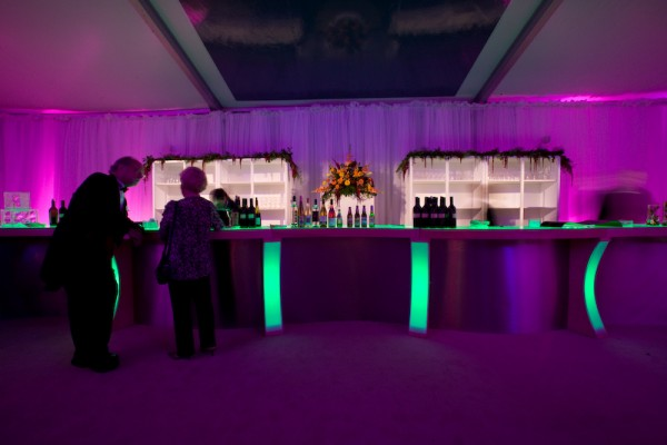 Mercy Hospital Grand Opening event - custom bar by Leavitt & Parris