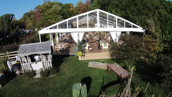 Tent structure, flooring and decor by Leavitt & Parris for Hidden Pond, Kennebunkport, Maine wedding
