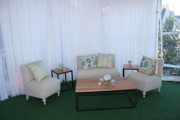 Furniture and decor detail by Leavitt & Parris for Kennebunkport, Maine party event