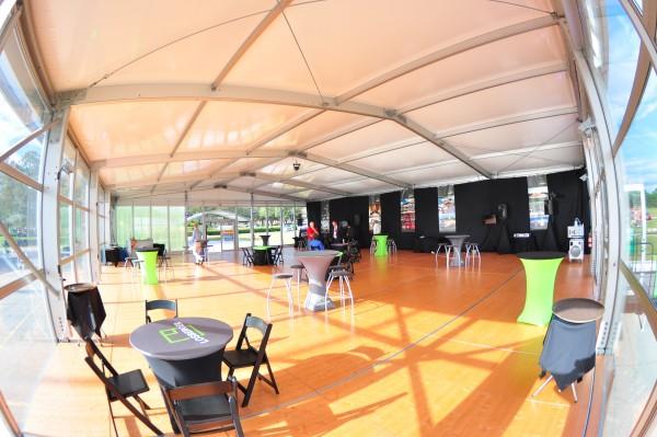 Leavitt & Parris Branding & Show Structure, inside view