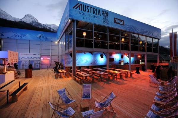 Two Story Branding Structure from Leavitt & Parris for Osterreich Tirol Haus